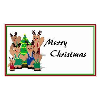Christmas Gift Tag Business Card Templates