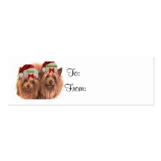 Christmas Gift Tag Card - Terrier Dogs