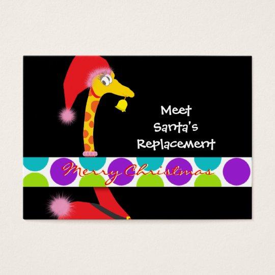 Christmas Gift Tag (Giraffe) - Personalize