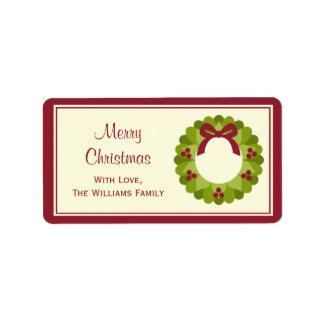 Christmas Gift Tag Labels Custom Address Label