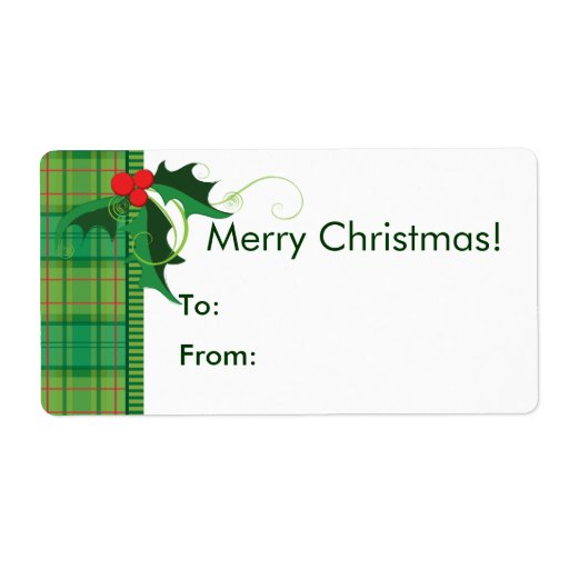Christmas Gift Tag Labels Custom Shipping Labels