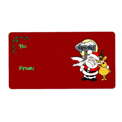 Christmas Gift Tag - North Pole Buddies