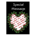Christmas Gift Tag Photo Frame Business Cards