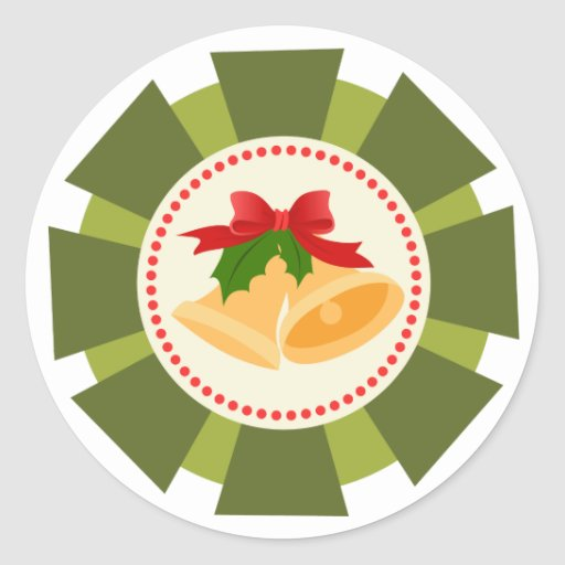 Christmas Gift tag Round Sticker