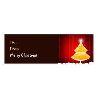 Christmas Gift Tag - Skinny Business Card