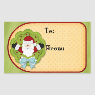 Christmas Gift tag Rectangle Sticker