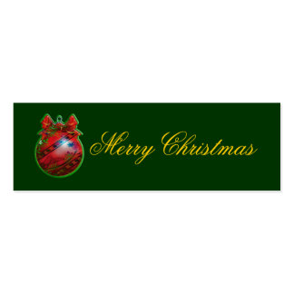 Christmas gift tag: tree decoration business card