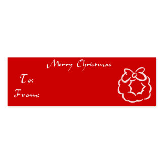 Christmas Gift Tag Wreath Business Card