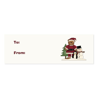 Christmas Gift Tags Double-Sided Mini Business Cards (Pack Of 20)