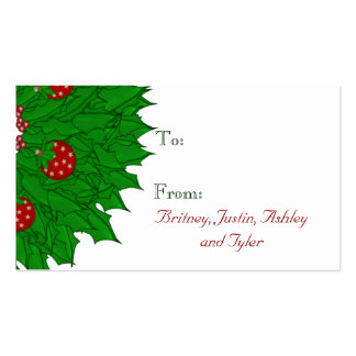 Christmas Gift Tags Business Card Template