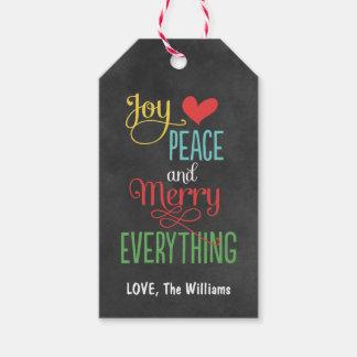 Christmas Gift Tags   Chalkboard Design