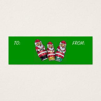 Christmas Gift Tags - Chocolate Santa's