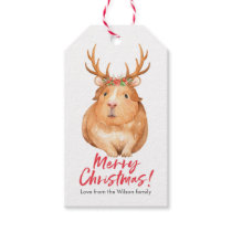 Christmas gift tags cute hamster