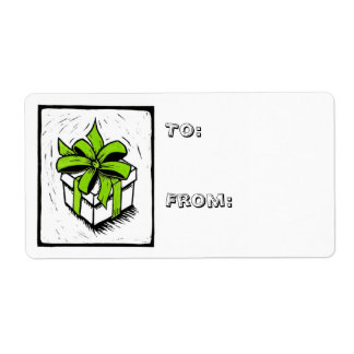Christmas gift tags label