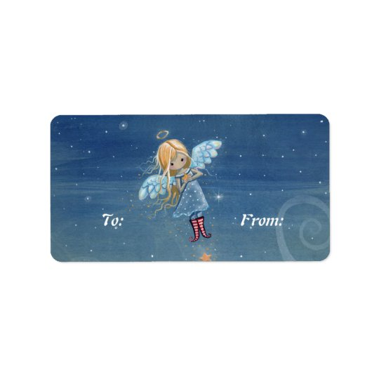 Christmas Gift Tags Labels Little Star Angel
