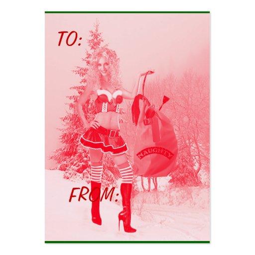 Christmas Gift Tags - Naughty Elf Business Card Template