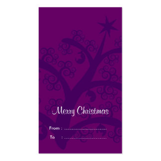 Christmas Gift tags: Purple Christmas Tree Double-Sided Standard Business Cards (Pack Of 100)