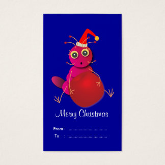 Christmas Gift tags: Red Ant Business Card