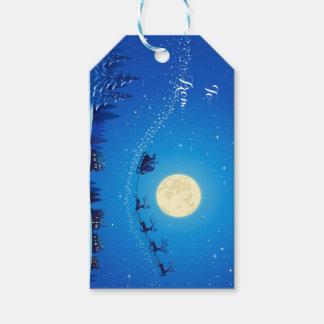 Christmas Gift Tags/Santa and Sleigh Gift Tags