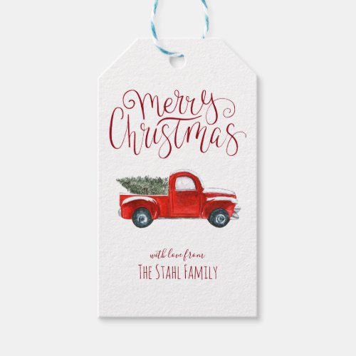 Christmas Gift Tags _ Vintage Red Truck