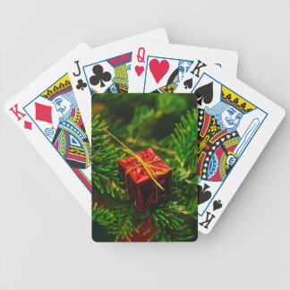 Christmas gift tree decoration bicycle playing cards