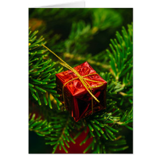Christmas gift tree decoration card