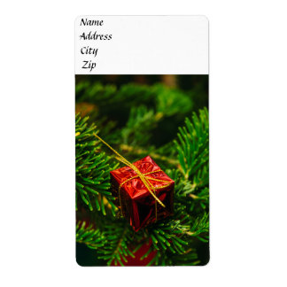 Christmas gift tree decoration label