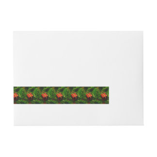 Christmas gift tree decoration wrap around address label