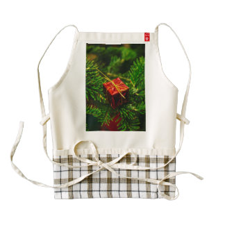 Christmas gift tree decoration zazzle HEART apron
