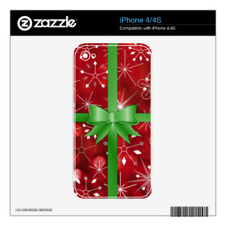 Christmas Gift Wrap iPhone 4S Skin