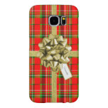 Christmas Gift Wrapped in Red Tartan and Ribbons Samsung Galaxy S6 Case