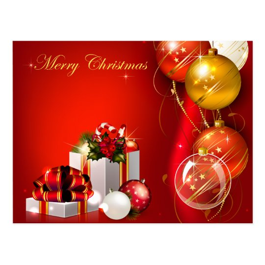Christmas Gifts and Ornaments Postcard