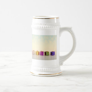 Christmas Gifts and Snowflakes Beer Stein