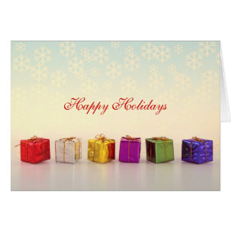 Christmas Gifts and Snowflakes Cards