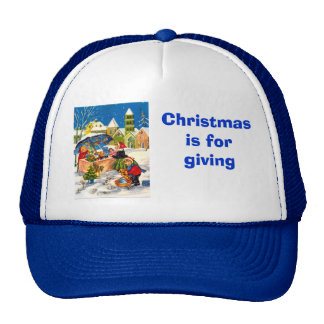 Christmas gifts in a Christmas market Mesh Hat