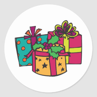 Christmas Gifts Classic Round Sticker