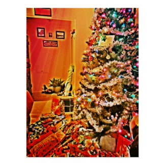 Christmas Gifts Under The Tree Posters