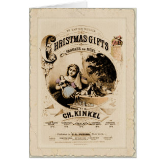 Christmas Gifts vintage card