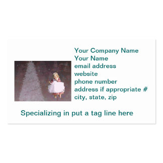christmas Gifts with Christmas Tree & Little Girl Business Card