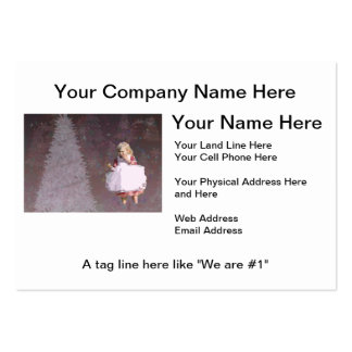 christmas Gifts with Christmas Tree & Little Girl Large Business Card