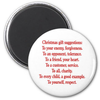 Christmas Gifts with Saying or Quote 2 Inch Round Magnet