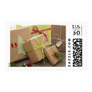 Christmas Gifts Wrapped Postage