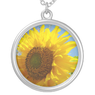 Christmas gifts Yellow Sunflower necklace Flowers