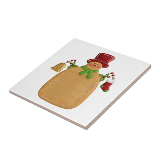 Christmas Ginger Bread Man Small Square Tile