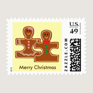 Christmas Ginger Puzzle Cookies Autism Awareness Postage