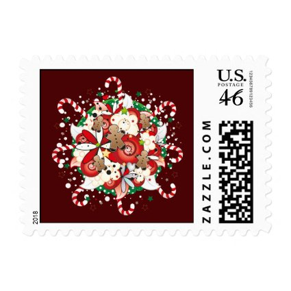 Christmas Gingerbraed Man Bouquet Postage