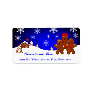 Christmas Gingerbread Address Label