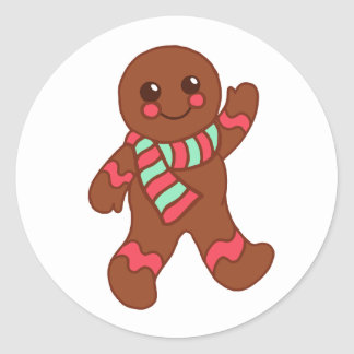 Christmas Gingerbread Boy Stickers