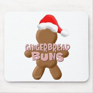 Christmas Gingerbread Buns Mouse Pad