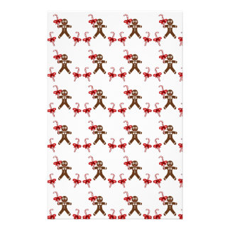 Christmas Gingerbread Candy Stationery Design